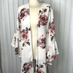 Ivy + main ruffles sleeves kamono duster